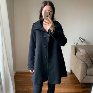 Burberry wool cashmere coat size 8 black